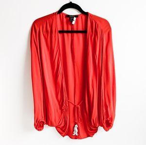 F21 Contemporary Tie Front Cardigan shrug kimono